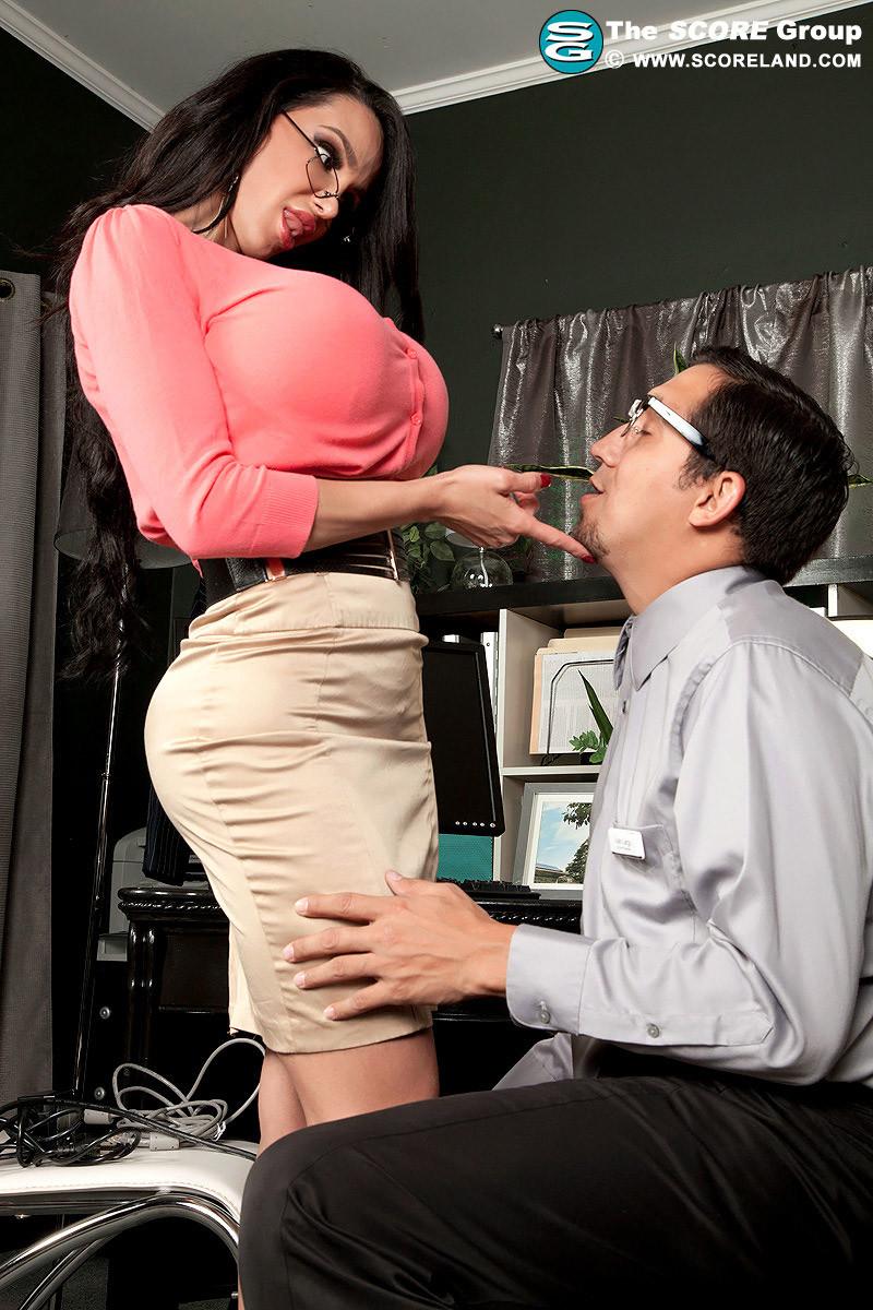 Коллега с мега грудями