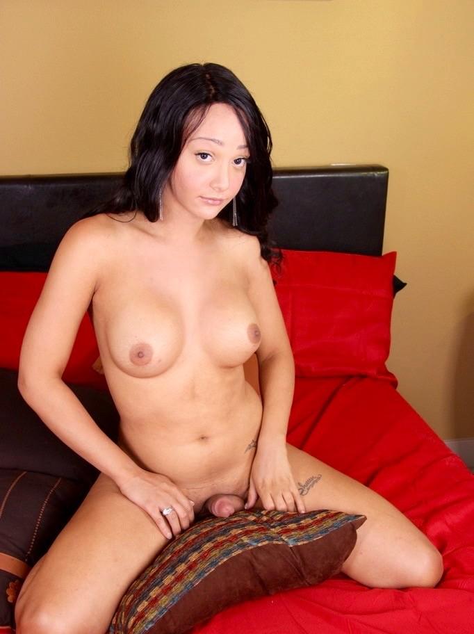 Большегрудая азиатская женщина с хером